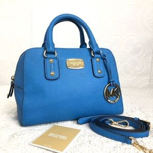 🌸OFFERS?🌸Michael Kors Leather Blue Small Satchel